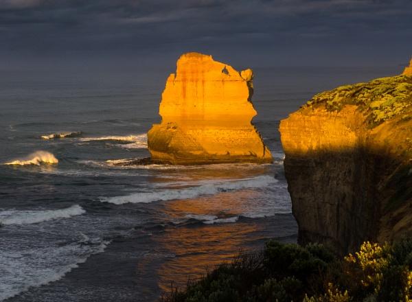 Sea Stack Aglow by BobinAus
