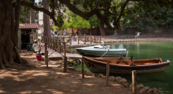 Boats on Villa Borghese lake by robjames