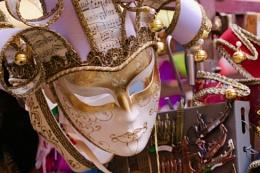 White Venitian Mask