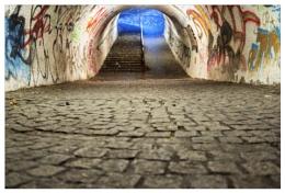 the subway....