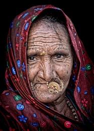 Rajasthani desert tribes woman