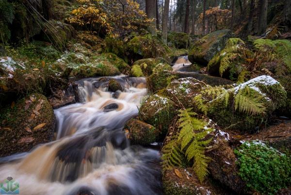 Wyming Brook Autumn Snow by jamesgrant