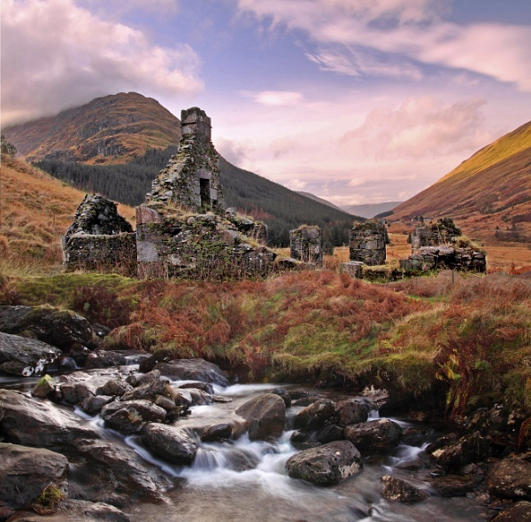 """ Old Ruin \"" on the rest and be thankful road A 82 in Argyll by stokesy"