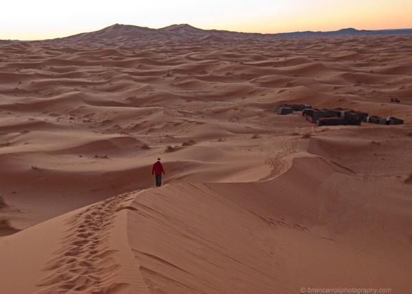 Dawn at a Berber Campsite, Erg Chebbi, Western Sahara, Morocco by brian17302