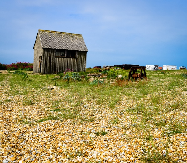 Shed on the Shingle Bank by Nikonuser1