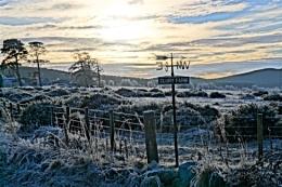 Clury Farm in a hard frost.