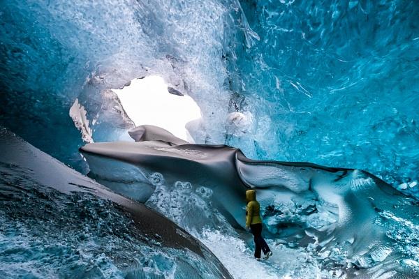 Crystal Ice Cave near Jokulsarlon in Iceland by Phil_Bird