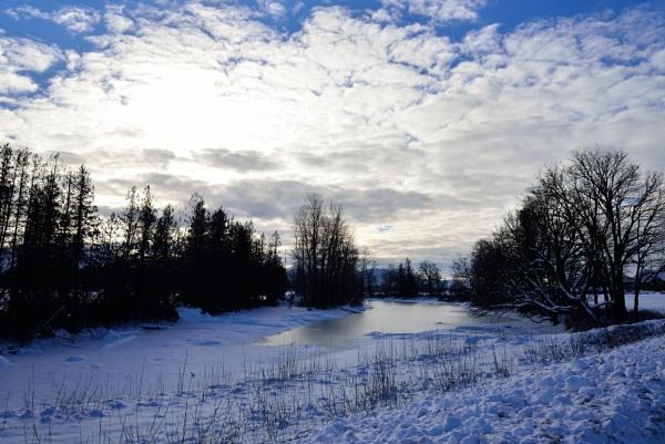 Frozen slough by DouglasMorley