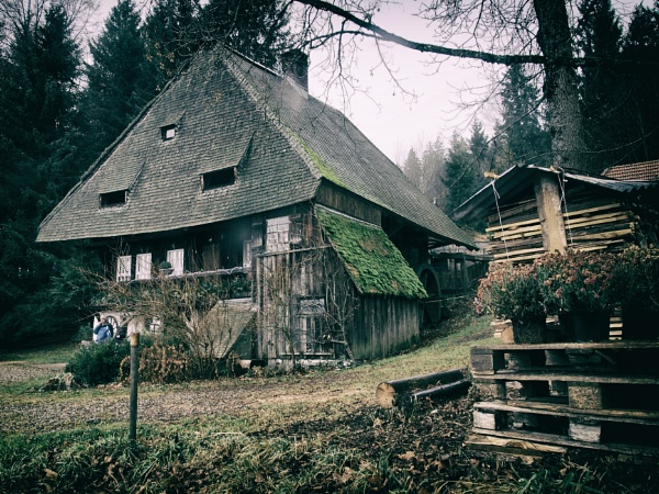Old Black Forest Mill House by hrsimages