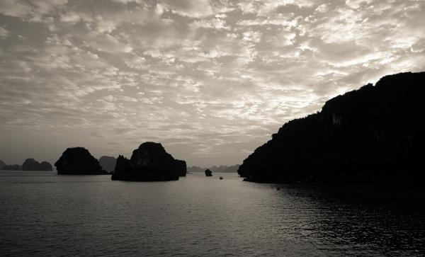 Morning Sky Halong Bay Vietnam by Stiobhan
