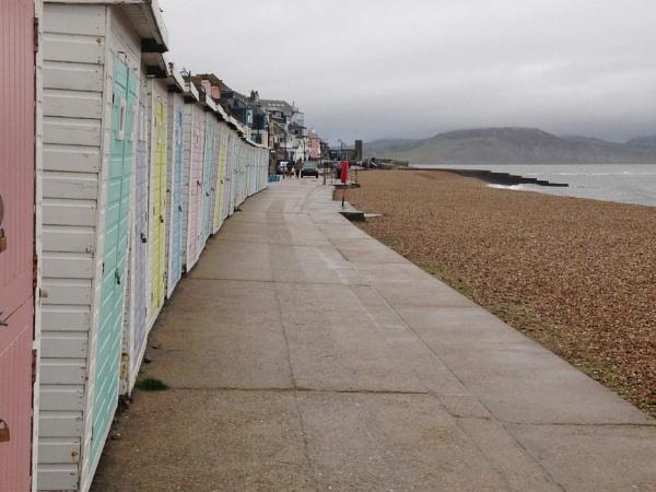 Beach huts at Lyme Regis by caj26