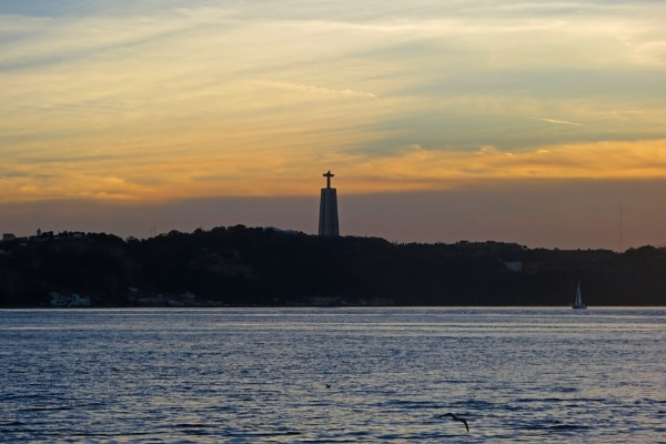 Lisbon sunset by Ian G W