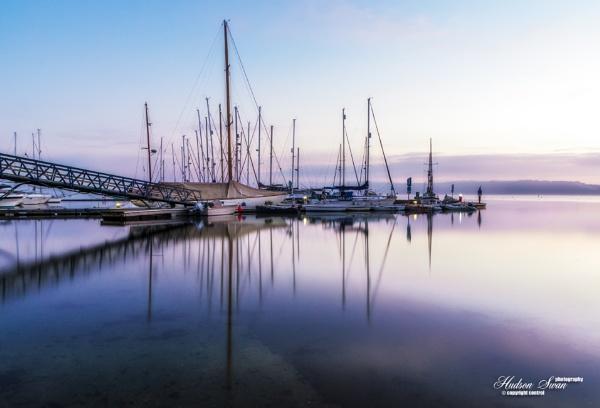 December Dawn at Mylor Yacht Harbour by sunsetskydancer