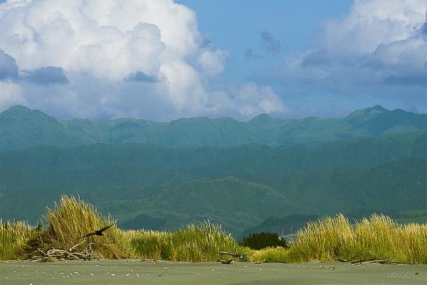 Tararua Range from Kuku Beach (2457) by paulknight