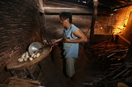 Kitchen which made traditional cake in central jawa.