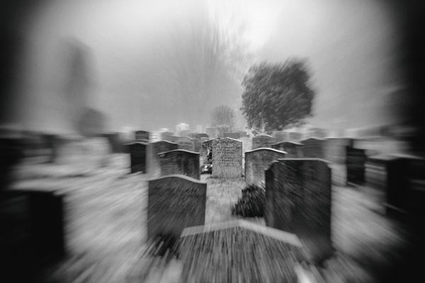 misty graveyard by DCox