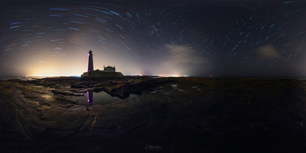 St Mary\'s Island 360 Star Trails by St1nkyPete
