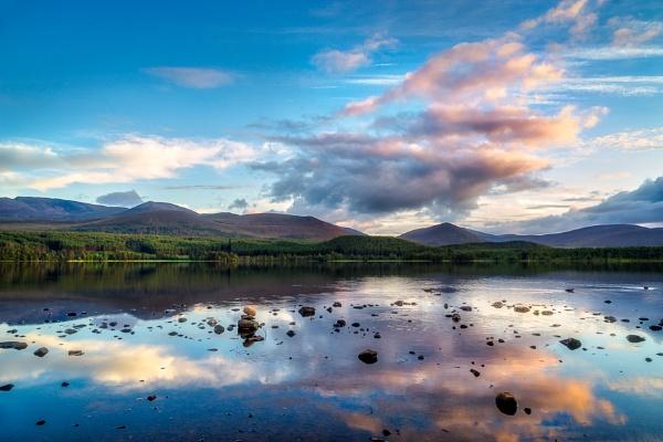 View of Loch Morlich at Sunset by Phil_Bird