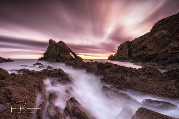 Morning colours at Bow Fiddle Rock by ianrobinson