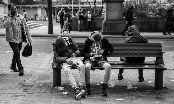 street scene-sleeping by karen1961