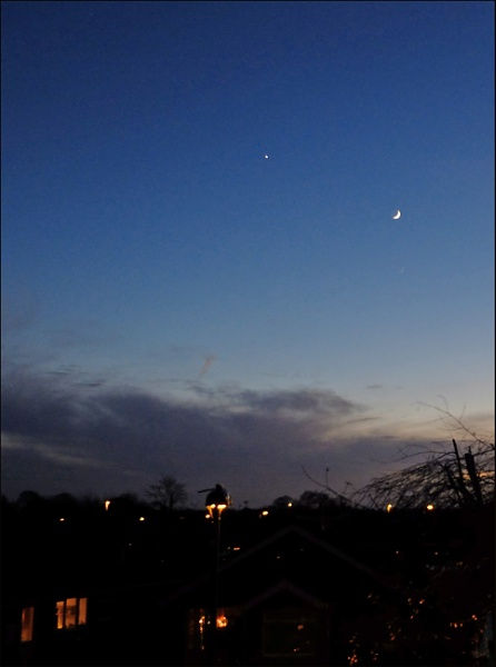 The Moon and Venus by salopian