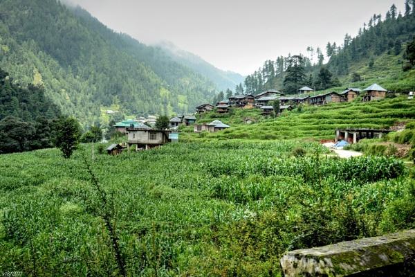 Barot valley village by Bantu