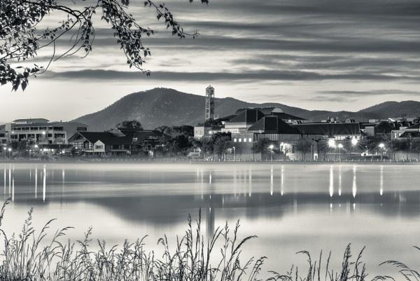 Tuggeranong and Mount Tennant before Dawn by BobinAus