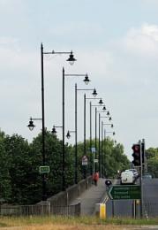 Lamp posts, Greyfriars Bridge, Hereford