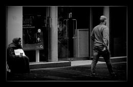 street scene seen shot