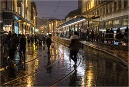 A wet evening in Manchester