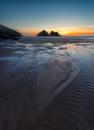 Holywell Beach Sunsetset by rogerdoger