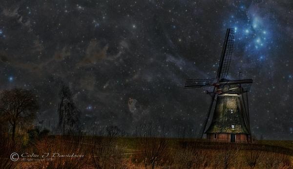 Waardenburg Mill in Starlight. by colijohn