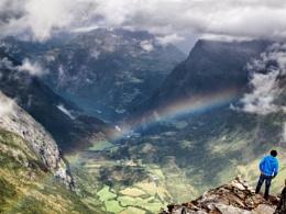 Rainbow over Geiranger