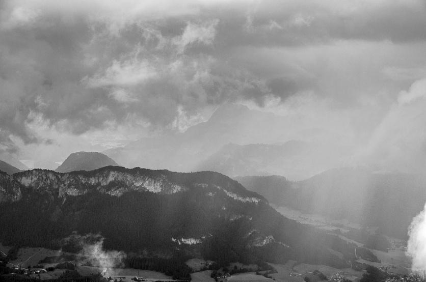 Storm on the Hahnenkamm.