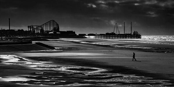 Blackpool beach by Dixxipix