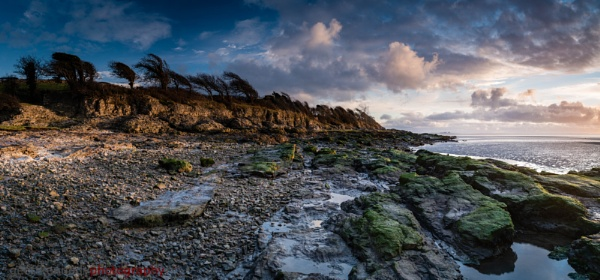 Silverdale Cliffs at Sunset by geffers7