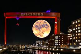 Moon light over Eriksberg