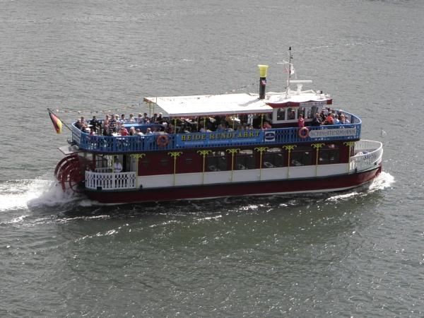 Warnemunde Paddlewheel ferry by voyger1010