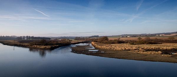 River Tweed near Berwick by milepost46