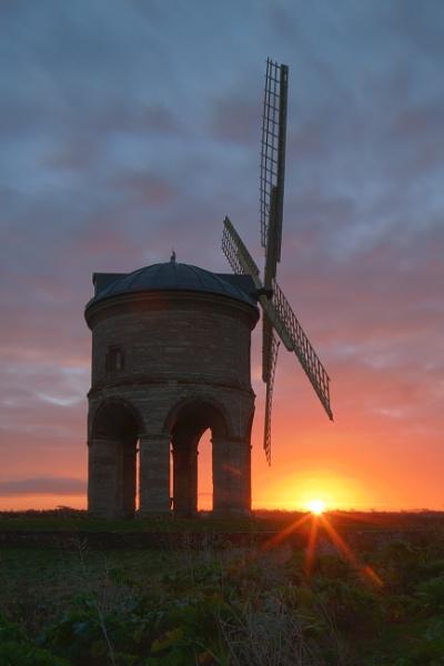 Chesterton Windmill sillhouette by tom_earwaker