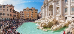Fontana Di Trevi- where I threw three coins!