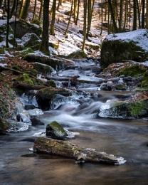 Deep winter in Karlstalschlucht