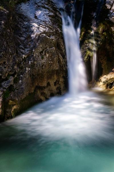Waterfall at the Val Vertova Torrent near Bergamo by Phil_Bird