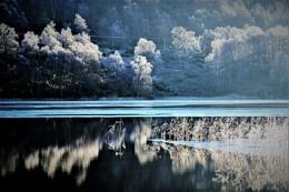 Reflecting on Loch Pityoulish.