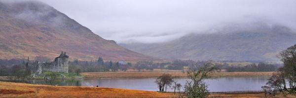 Kilchurn castle at Loch Awe Scotland. by bobpaige1