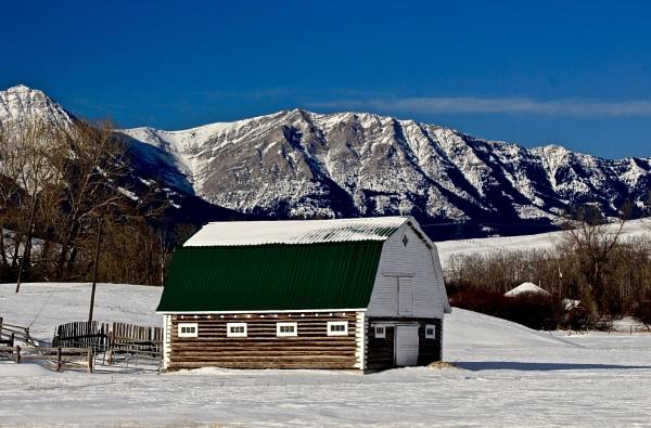 Log  barn by waltknox