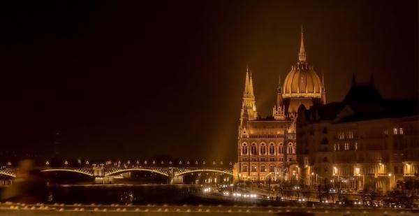 Night Lights Budapest by Legend147
