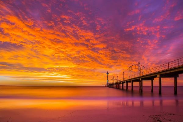 Brighton Pier Sth. Australia by Wadooz