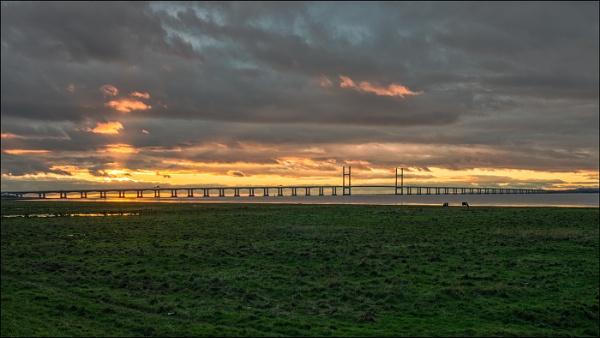 Severn Crossing Sunset by Kilmas