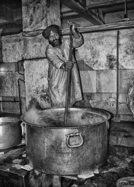 Inside the temple kitchen by HelenaJ